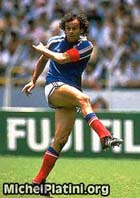 Michel Platini in action